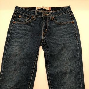 Junior's Levi's Boot Cut Denim Jeans Size 1